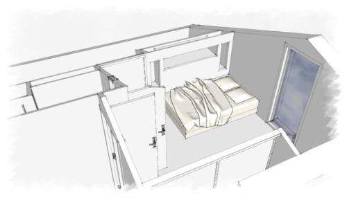 Création_chambre_et_salle_eau_sur mezzanine